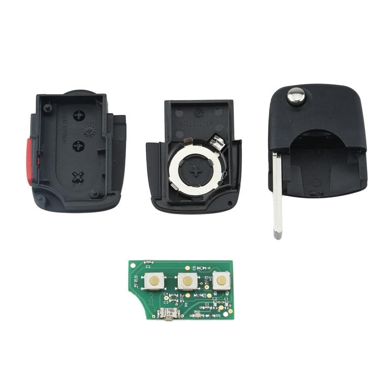 QWMEND 3+1Buttons Remote Key For AUDI A4 S4 A6 A8 TT 1997 1998 1999 2000 2001 2002 2003 2004 2005 4D0837231E Original Keys