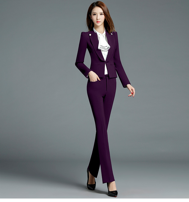 485358323d6 PYJTRL Brand Two Piece Set Pink Office Uniform Designs Women Elegant ...