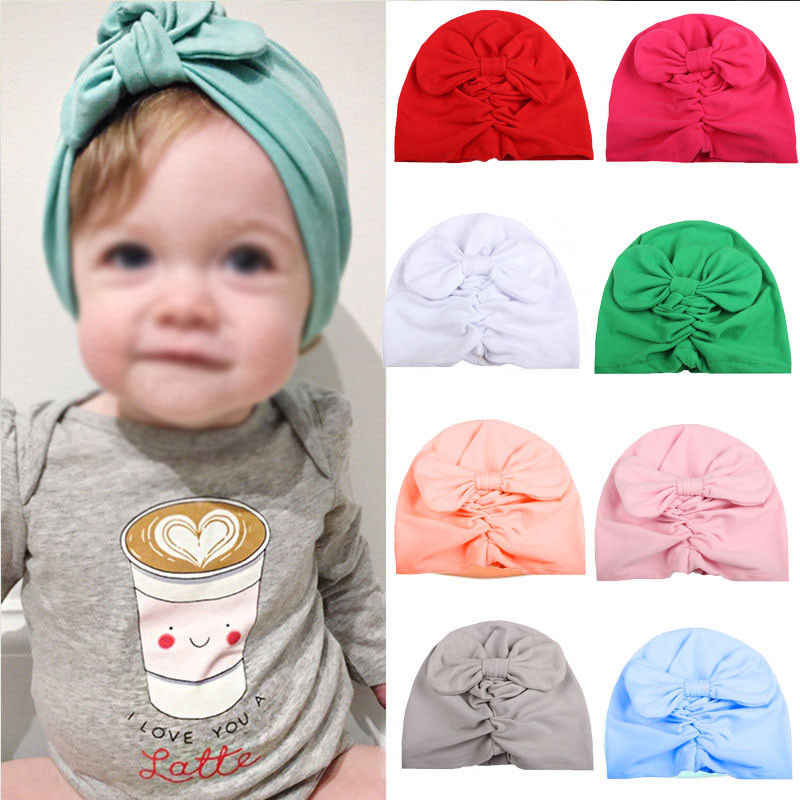 Emmababy ร้อนสาวใหม่เด็กทารกเด็กวัยหัดเดินทารกแรกเกิดฤดูหนาว Soft Warm Beanie ผ้าฝ้ายห่อหมวก Turban หมวก