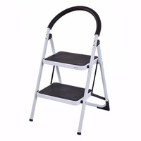 Giantex 2 Step Ladder Folding Stool Portable Heavy Duty 330Lbs Capacity Chairs Industrial Lightweight Foldable Ladders TL32763