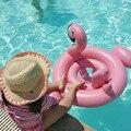 Envío gratis Anillo de Asiento Inflable de la Natación Niños Piscina Pink Flamingo Flotador Flotador Asiento Blanco Cisne Barco Para la Edad 8 M-2 T