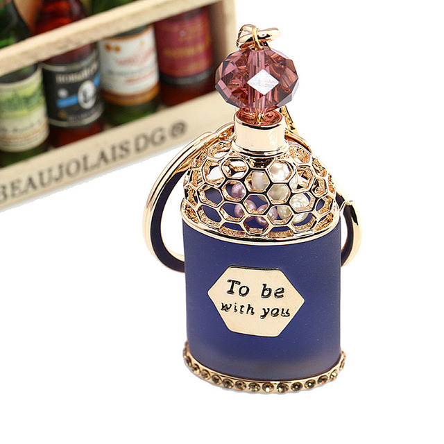New magic perfume bottle car keychain gift llaveros mujer fashion car keychains for woman jewelry keychian llavero star wars