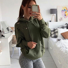 Fashion Women Long Sleeve Hoodie Sweatshirt Casual Hooded Pullover Army Green Pocket Design Autumn Winter Hoodie For Women Tops