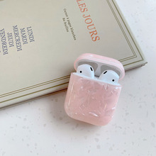 For AirPods Case Luxury Soft Silicone TPU Conch Shell Pattern Earphone Cases Apple Airpods 2 Cover Funda Girl
