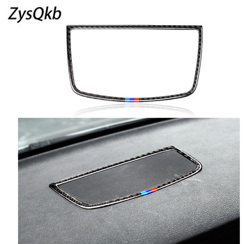 Car styling Stickers for BMW E70 E71 X5 X6 accessories Carbon Fiber Dashboard speaker decorative panel decoration image