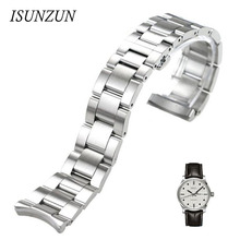 ISUNZUN Watch Band For Men And Women For MIDO Mido Helmsman M005430A M005 Watch Strap Stainless Steel Watchbands Free Shipping