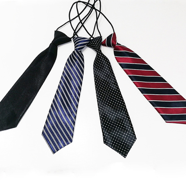 Lictar Stripe Plaid Print Neck Tie for School Boys Children Kids Baby Wedding Party Cravats Accessories Elastic New Fashion Tie