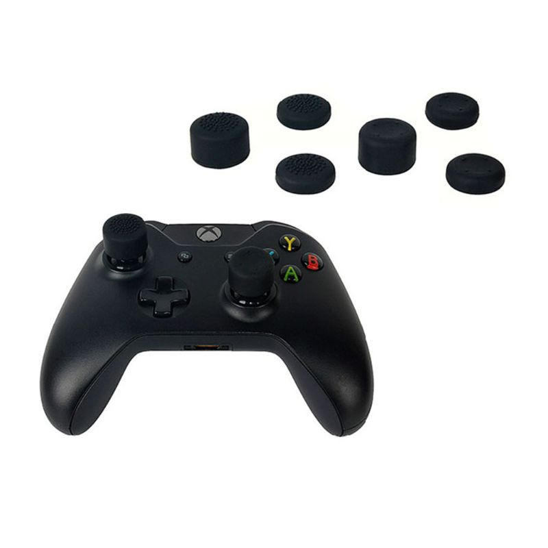 8Pcs Rubber Silicone Cap Thumbstick Thumb Stick Enhance Cover Case Skin Joystick Grip For XBOX-ONE 6