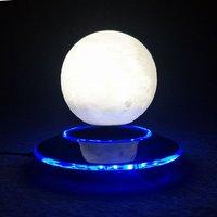 ICOCO 12cm 3D Levitation Moon Lamp Magnetic Floating Night Light Gradual Color Changing Moon Light Romantic