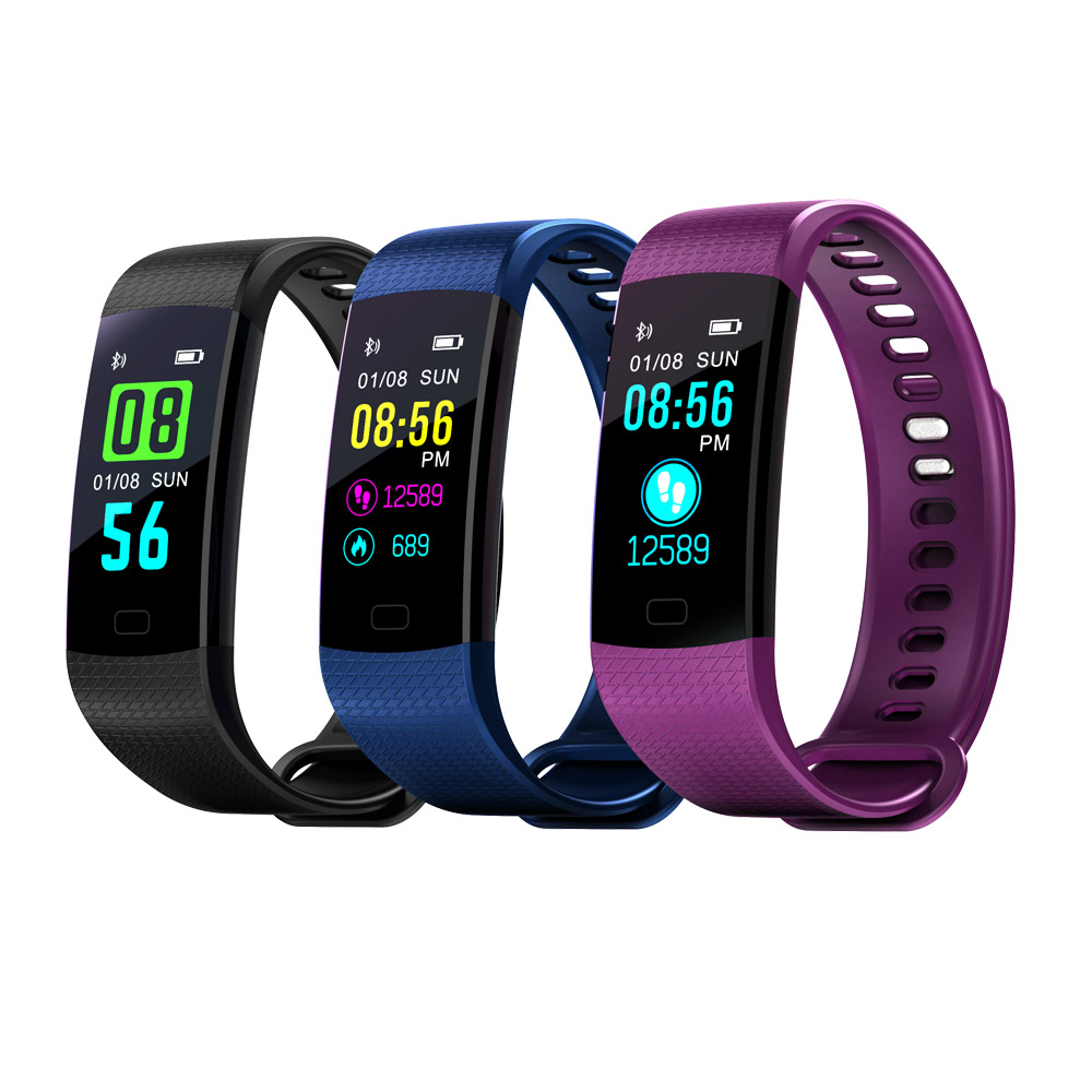 K10 Color Screen Smart Wristband Sports Bracelet Heart Rate Blood Pressure Monitor Fitness Tracker for One Plus one+ 1 2 X 3 HTC htc one e9 plus delicate rose