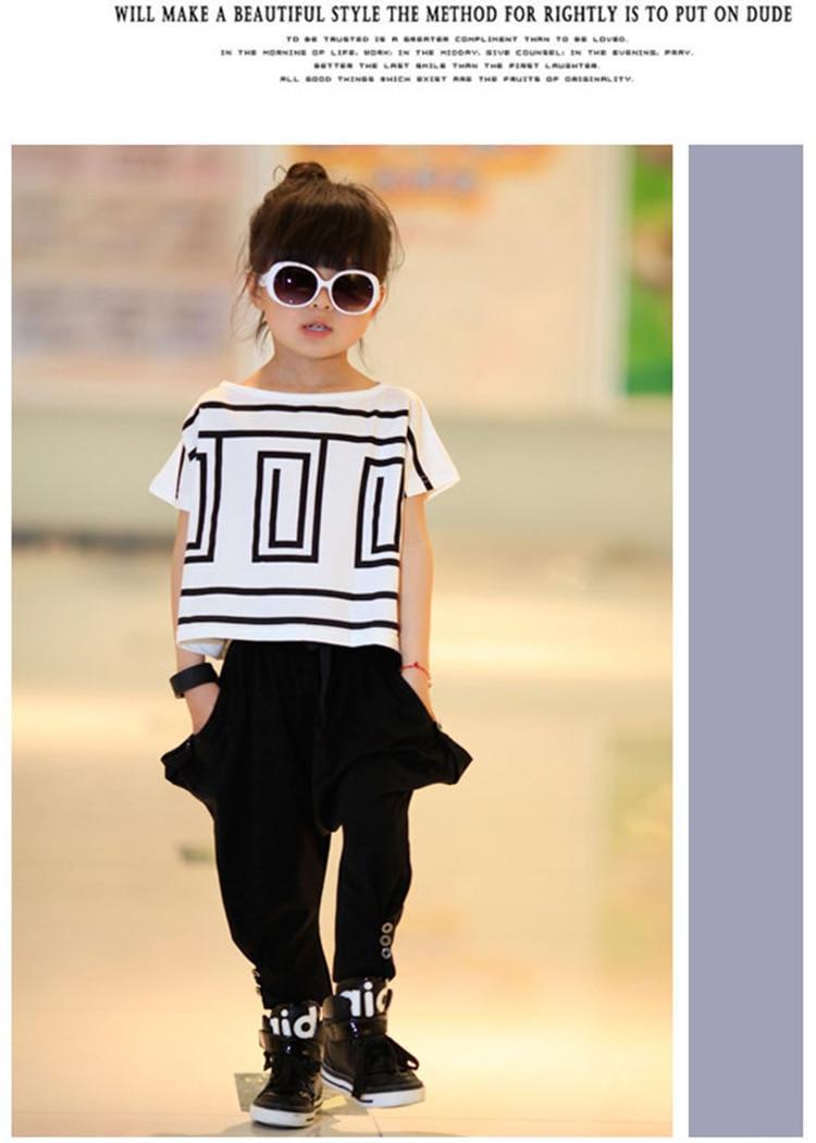 5335e13380ce9 2016 New Girls Summer Sets Fashion Vetement Enfant Fille Casual Girl  Clothes Set Cool Ropa Para Ninas Printing Girls Set
