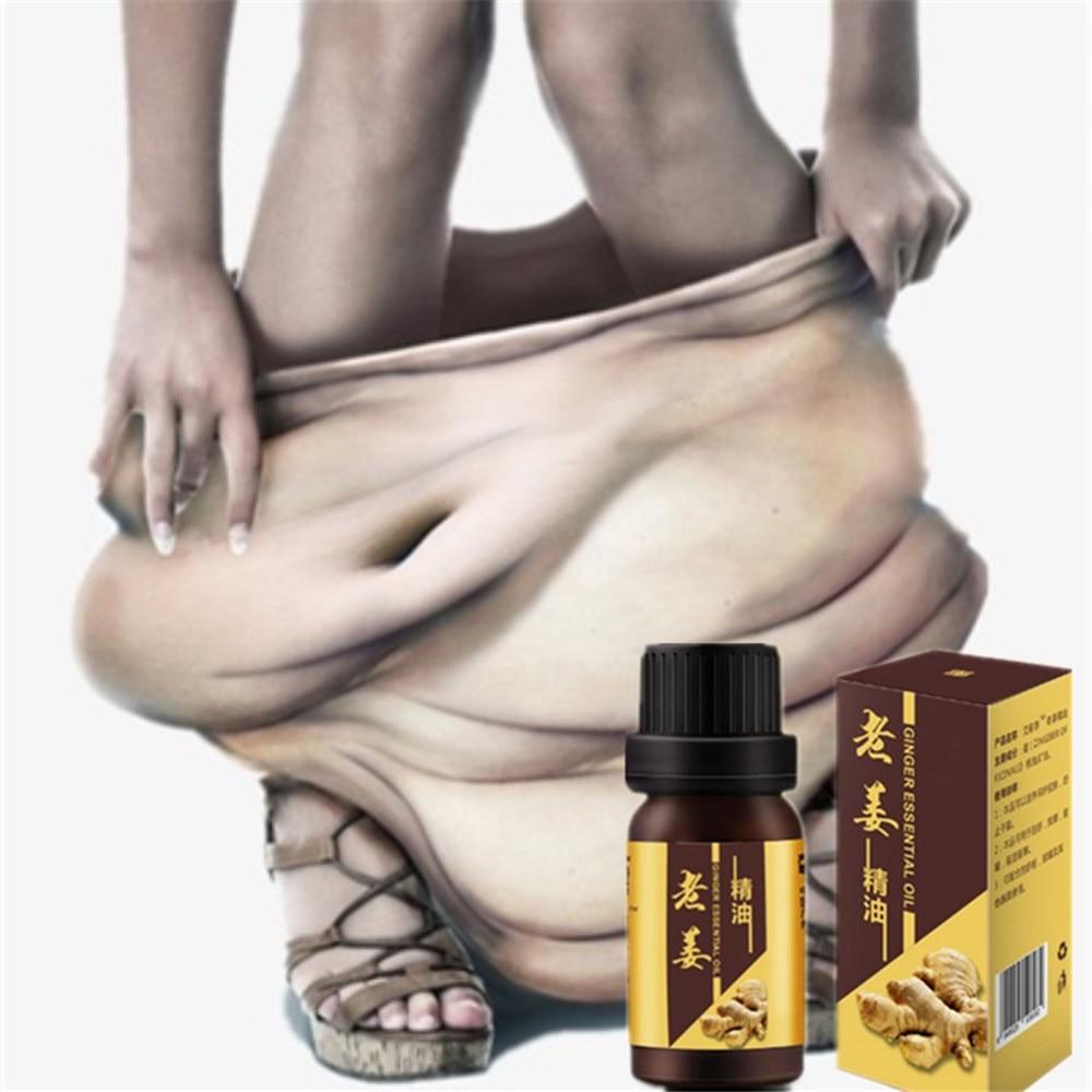 1 Bottle Chinese Formula Fat Burner Ginger Essential Oil Detox Body Cellulite Weight Loss Fat Burning Face Slimming