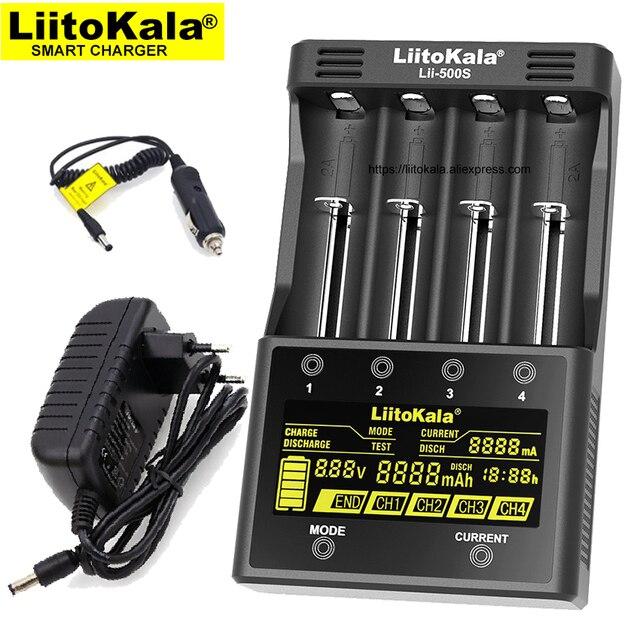 Liitokala Lii 500S Lii 402 Lii S4 Lii S2 ładowarka baterii, ładowania 18650 18350 16340 10440 14500 26650 1.2V AA AAA NiMH baterii
