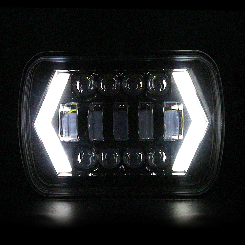 5x7 Inch Rectangular Headlight LED 6X7 Truck 4x4 Off Road Headlamp For Jeep Wrangler YJ Cherokee XJ MJ DRL led Square Headlamp pair square 5x7 inch led headlight daymaker sealed beam replacement truck light high low beam headlamp for jeep wrangler yj