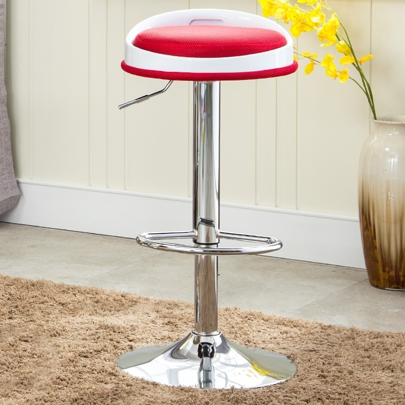 garden bar lifting red color chair living room milk tea coffee stool retail wholesale bar chair cafe stool free shipping