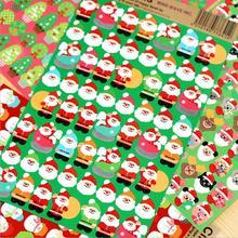 8 pcs Lot kawaii Merry xmas stickers Happy christmas PET stickers Santa Claus Gift Stationery School