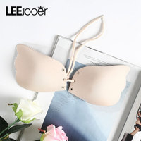 LEEJOOER Sexy Push Up Bra Silicone Lace Up Bralette Big Size BH Soutien Gorge Invisible Strapless