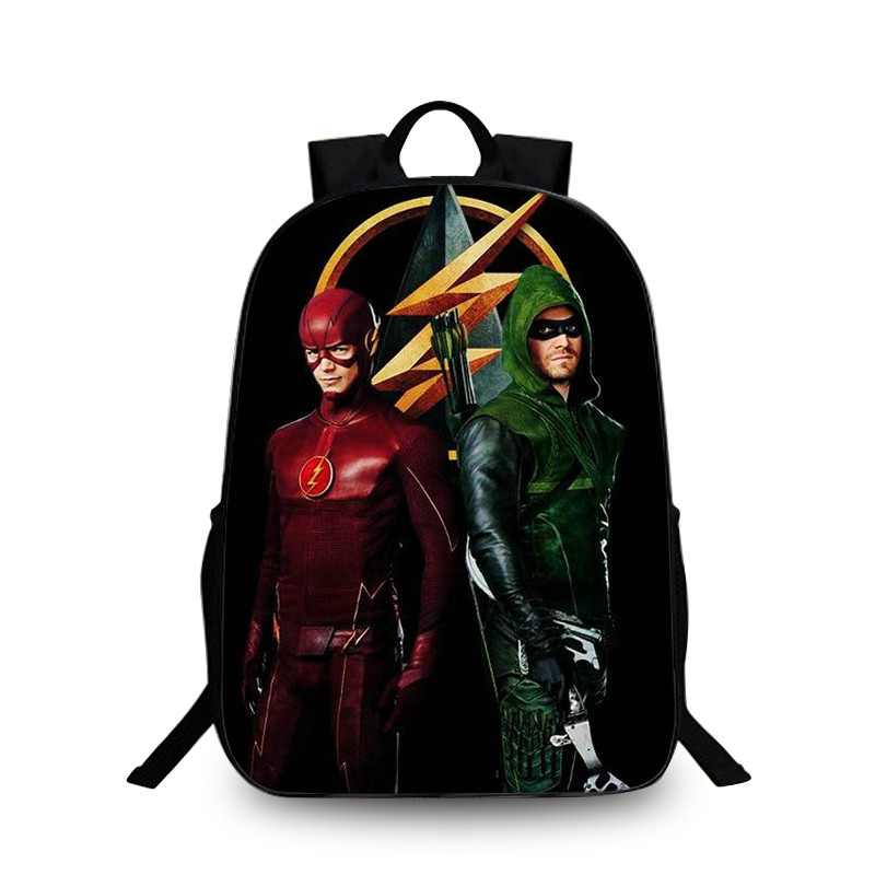 2017 movie the flash star printing 3d backpack for teenage