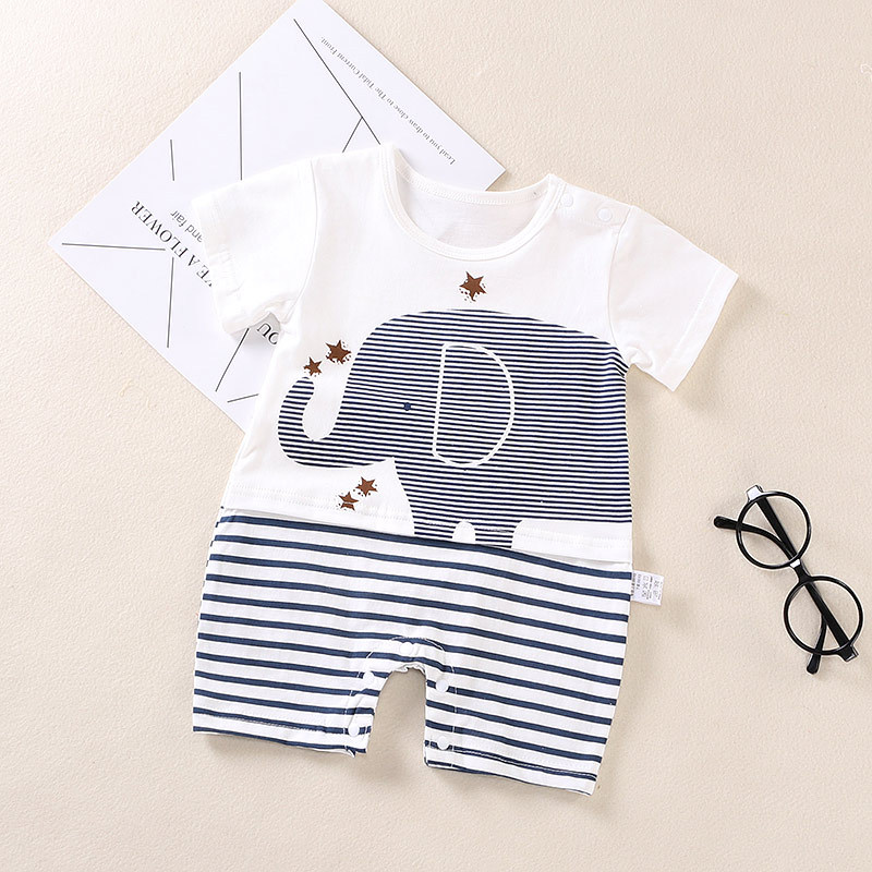 Summer Baby Romper Cartoon print Short Sleeve infant Jumpsuit cotton Newborn Baby boys clothes cute baby girls clothes bebes