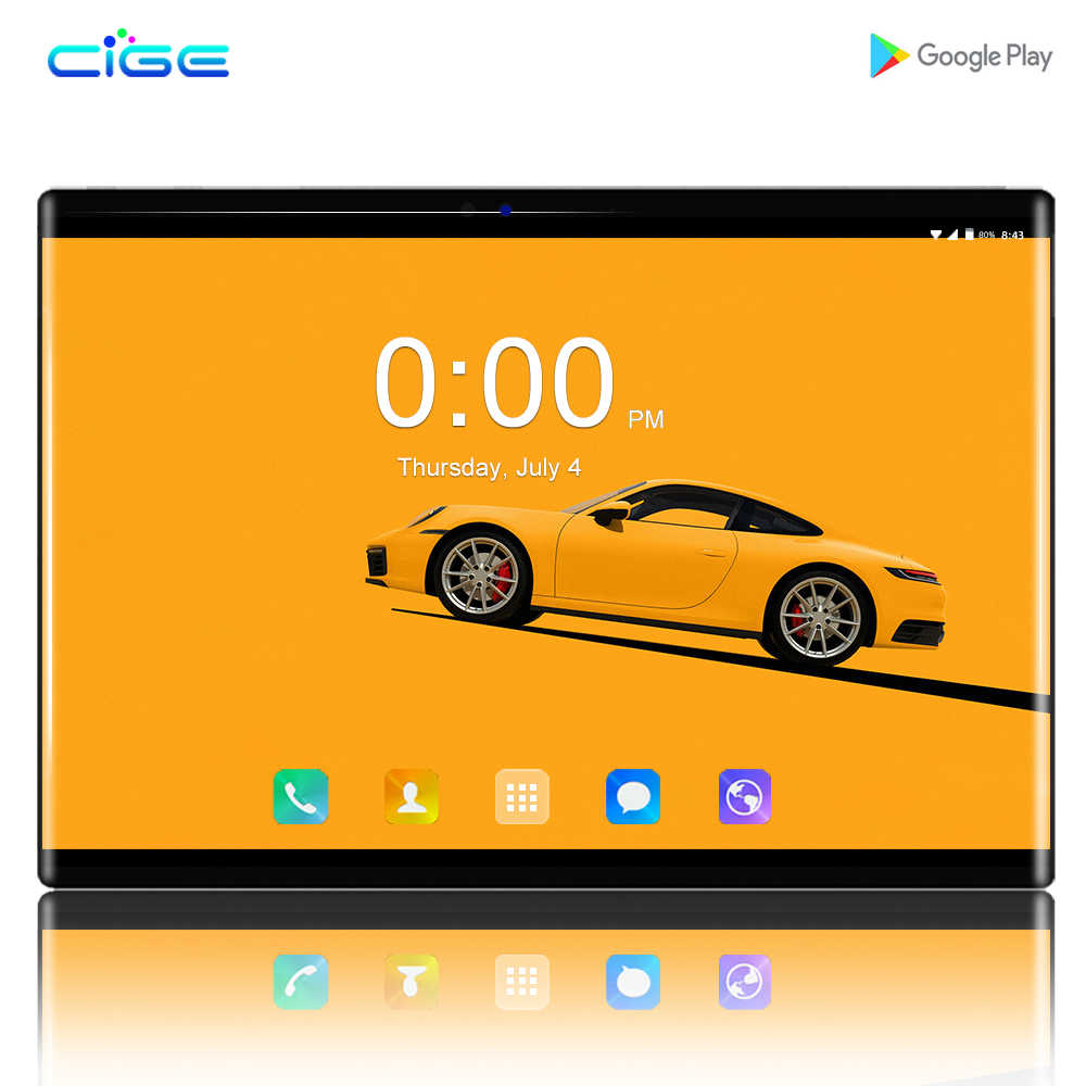 Cige N9 IPS Gaming PC 2.5D Kacamata Tempered Tablet dan Ponsel 10.1 Inch Android 8.0 1280X800 64GB ROM tablet PC RAM 6GB 8MP