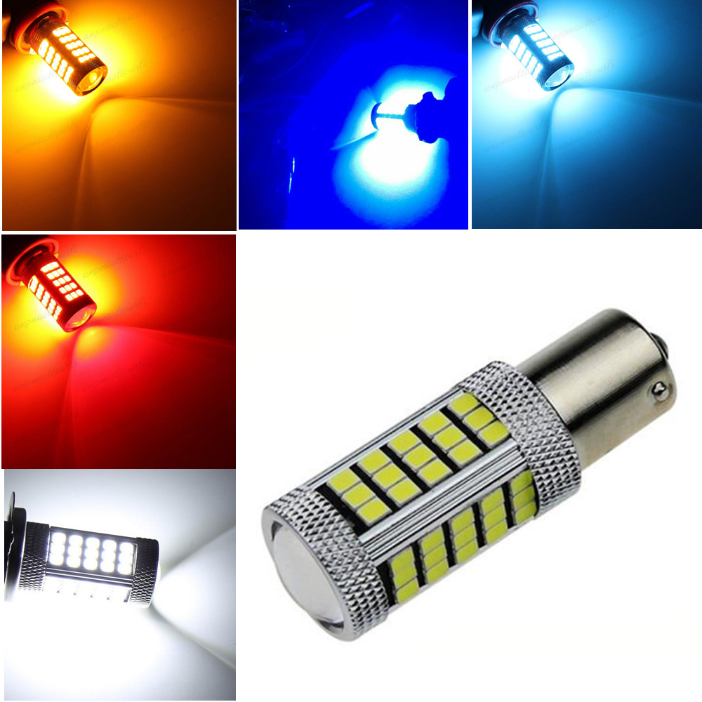CYAN SOIL BAY 1156PY 7507 PY21W BAU15S 63 66 SMD LED Car Rear Indicator Auto Front Turn Signal Light Amber White Red blue 33 SMD ijdm amber yellow error free bau15s 7507 py21w 1156py xbd led bulbs for front turn signal lights bau15s led 12v