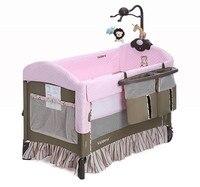 Высокое качество vladera Детские кровать новорождённого складной переносная детская кроватка легко носить ребенка колыбели со всеми аксессуа