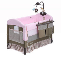 Высокое качество vladera ребенок новорожденный кровать складная дорожная детская кровать легко носить детская кроватка с все аксессуары пеле