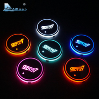 Airspeed STI LED Cup Coaster Cup Holder Acrylic Coasters For Subaru Levorg XV STI Forester WRX