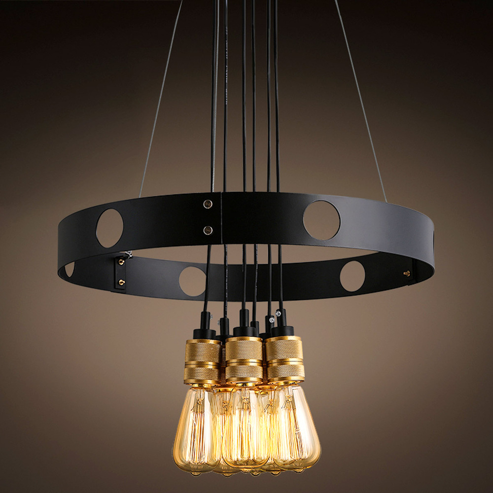 Aliexpress.com : Buy Top Grade Vintage Luxury Pendant Lights Loft Iron Hoop  Double Used Pendant Lamp Parlor Cafe Bar Lighting Decor from Reliable  pendant ...