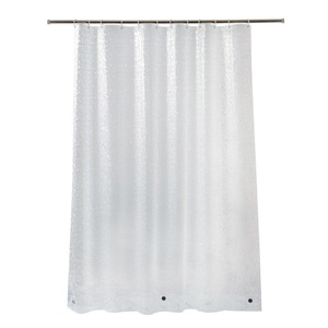 Image 3 - UFRIDAY cortina de ducha impermeable 3D, cortina de baño de plástico PEVA, cortinas transparentes de ducha, cortina de baño gruesa con imanes