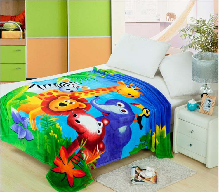 Детское одеяло Коралловое флисовое фланелевое одеяло постельные принадлежности плотные воздушные клетчатые Мультяшные одеяла