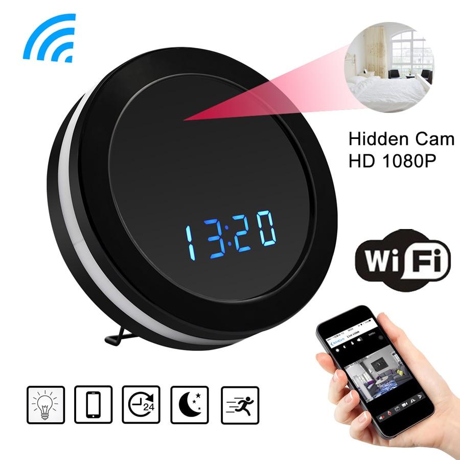 HD 1080P WiFi Round Clock Mini Camera Night Vision Motion Sensor Video Audio Recorder DVR Wireless Surveillance secret camera