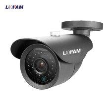 Камера наблюдения LOFAM AHD 720P 1080P, камера видеонаблюдения AHD 1 МП 2 МП, металлическая наружная камера видеонаблюдения, черно белая камера