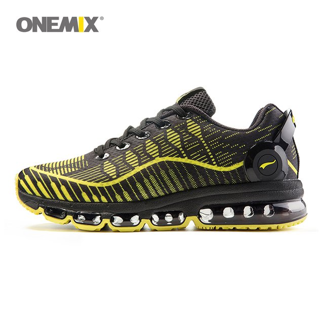 Onemix men's running shoes women sports sneakers light walking shoes breathable mesh vamp anti-skid outdoor sports sneakers