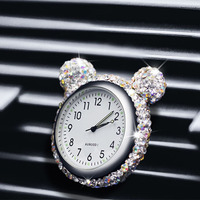 Car ornament automobile clock outlet perfume air cleaner pendant home automobiles interior decoration clock auto accessories