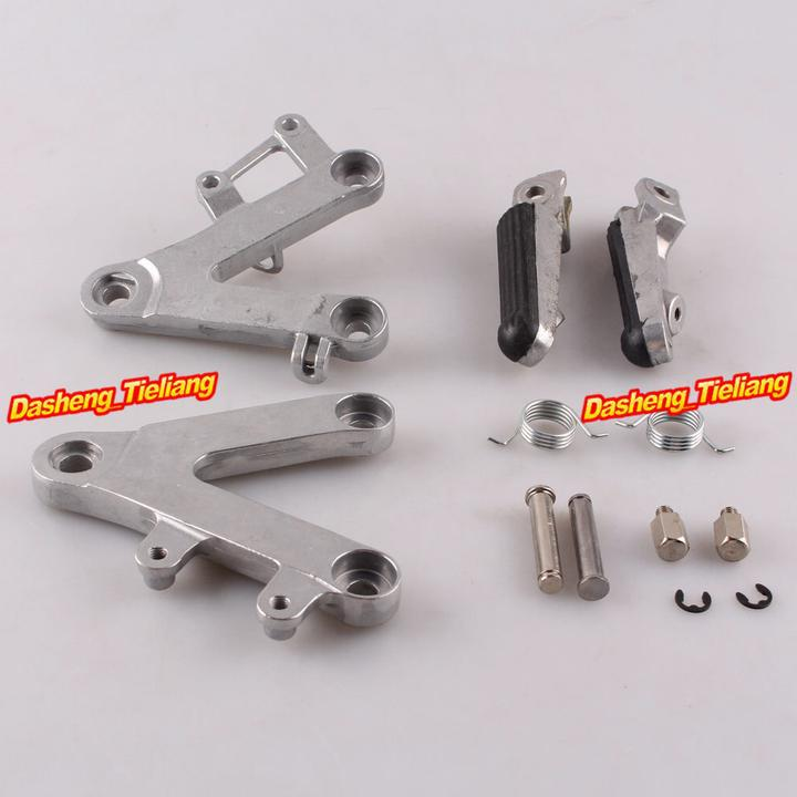 Aluminum Alloy Passenger Rear Foot Pegs Footrest Brackets for Honda CBR400 90 97 NC29 font b