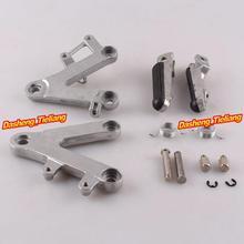 Aleación de aluminio Trasero de Pasajeros Estriberas Reposapiés Soportes para Honda CBR400 NC29 90-97, motocicleta piezas de Repuesto Accesorios