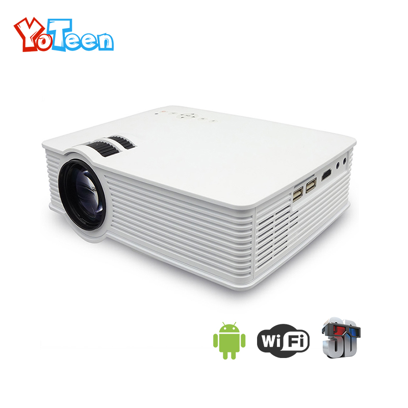 YOTEEN GP9 WiFi Mini Projector 1000 Lumens TV Home Theater LED Projector Support Full HD 1080P Video HDMI LCD 3D GP 9 Projector