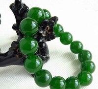 Il trasporto libero 435 NUOVO 100% Verde Naturale Perline di pietra Del Braccialetto Del Braccialetto Handmade 12 MM Bead AAA