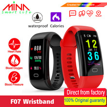 F07 Waterproof Smart Bracelet Heart Rate Monitor Blood Pressure Fitness Tracker Smart band Sport Watch for ios android or IOS(China)