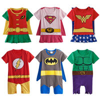 Baby Boys Girl Outfit Infant Super Hero Playsuit Romper Short Sleeve Summer Cotton Size 0 24M