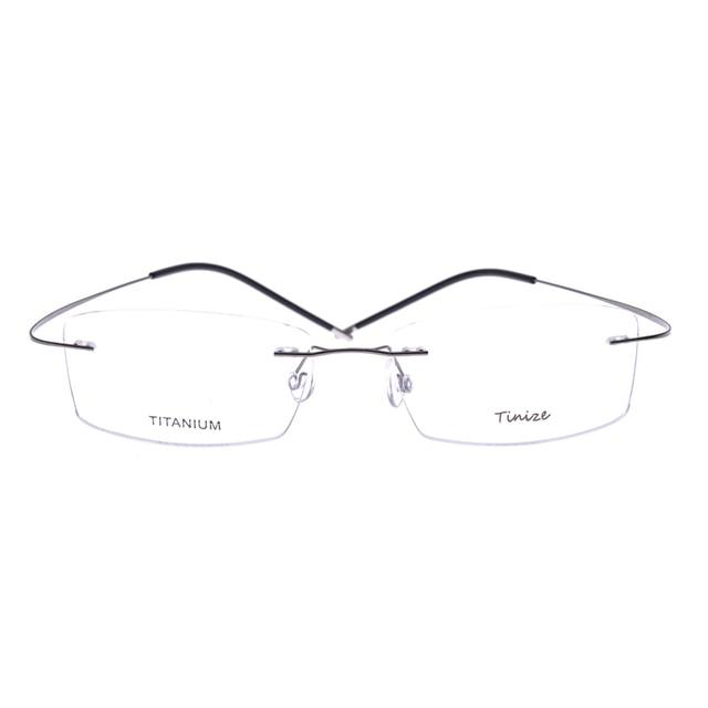 79a1022cd2 Light-weight 8 Colors Square Rimless Optical Glasses Memory Titanium  Eyeglasses Prescription Rx Optical Frames Demo Lens Only
