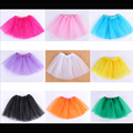 Solid Candy color Kids Dance Skirts 3 Layers Baby Girls Summer Ball Gown Puff Skirt Tutu