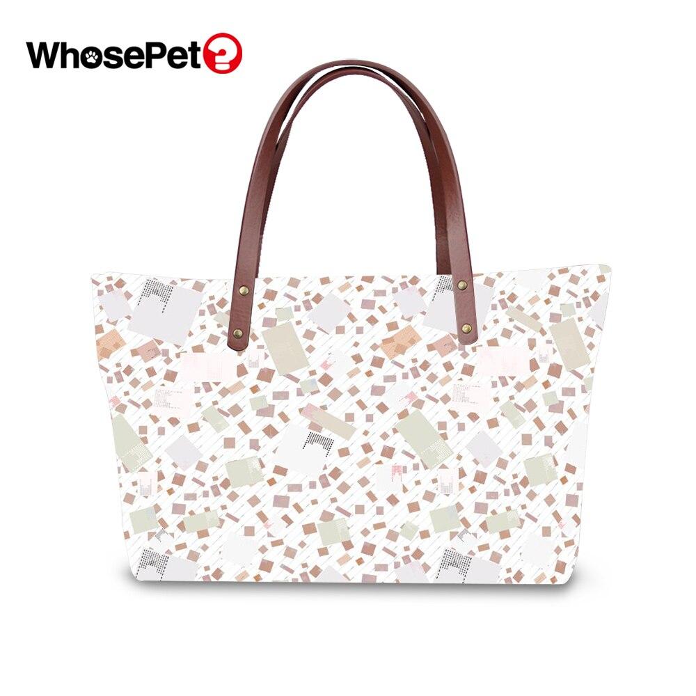b66cd89137f0 WHOSEPET женские дрожащие сумка с узором сумки женские Цветочные Фрукты  принт большой емкости топ-ручка сумки на плечо цветок женские сумки