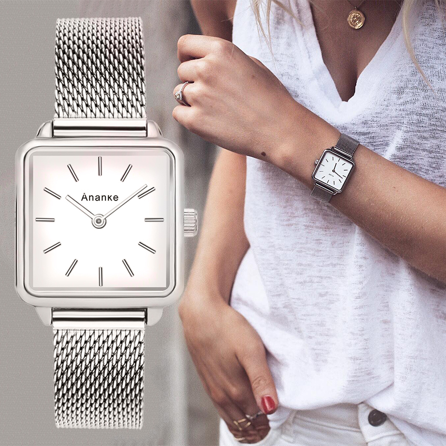 Ananke Luxury Designer Casual Quartz Watch Stainless Steel