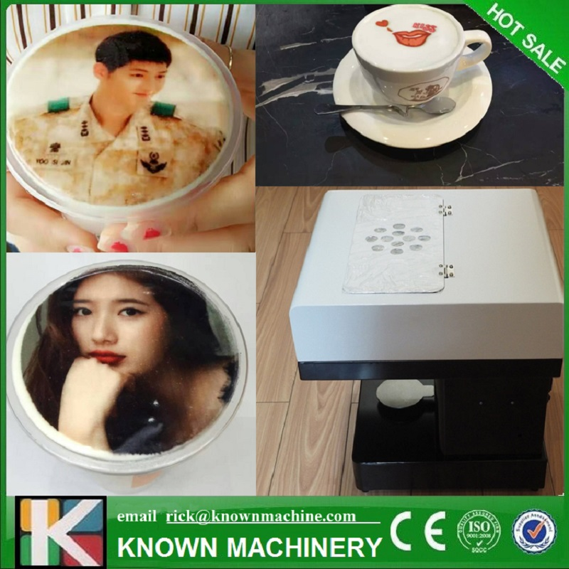 Art Coffee Drinks Printer Food Printer Chocolate Printer With customs own Logos/Pictures with 4 colors 100ml edible ink can eat ink 2 sets 8pcs x 100ml edible ink for epson canon desk inject printer for cake chocolate coffee