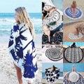 Verano Mandala Roundie Playa Sarong Pareo Abrigo Chal de Gasa de Boho Floral Tapiz Manta Toalla de Playa del traje de Baño Cover up