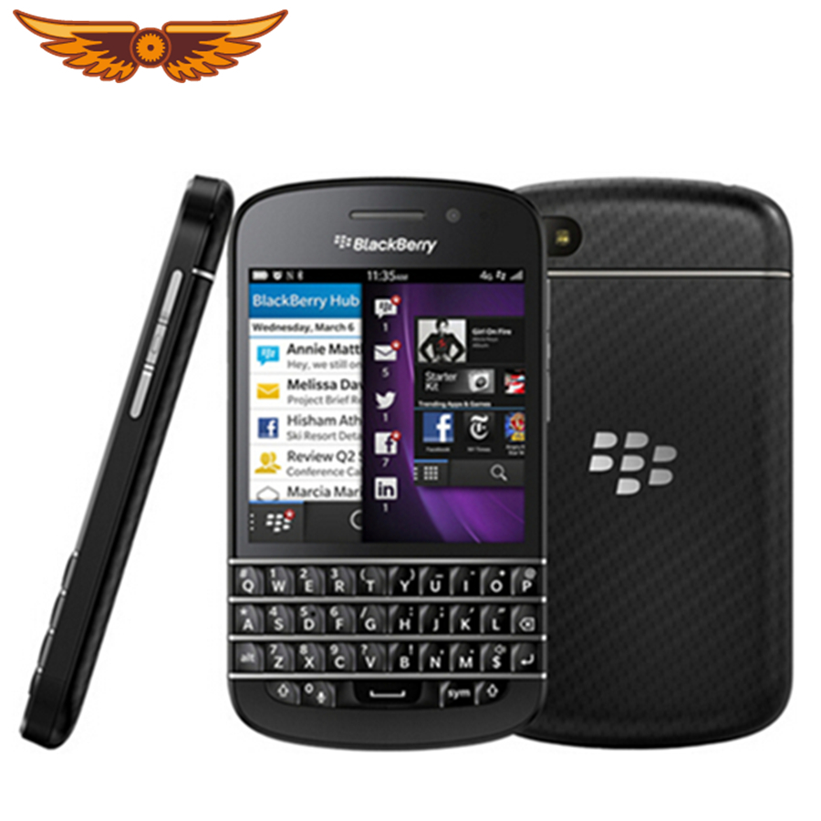 Q10 Original Unlocked Blackberry Q10 Dual Core 8MP 16GB ROM 2GB RAM  Bluetooth WIFI 2100mAh Refurbished