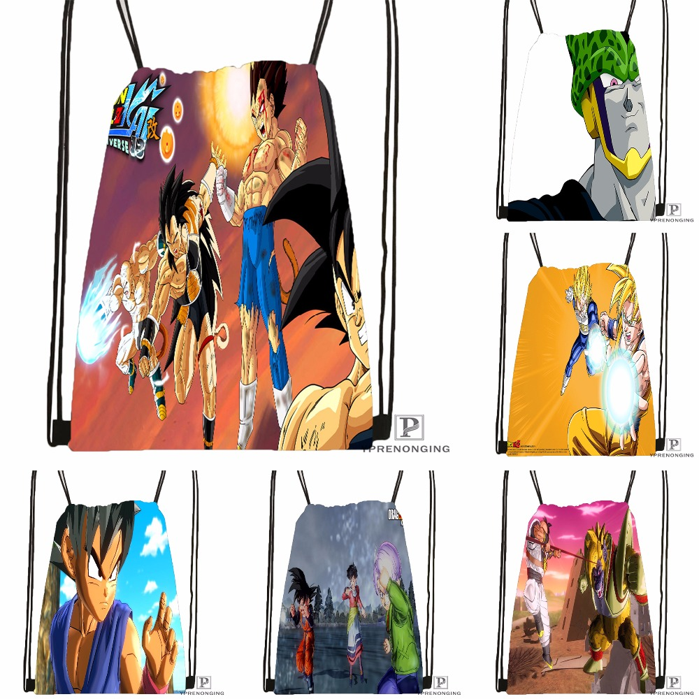 Custom Dragon Ball Anime Drawstring Backpack Bag Cute Daypack Kids Satchel (Black Back) 31x40cm#180531-03-55