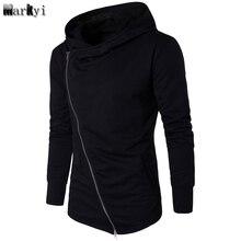 MarKyi fashion street hip hop mens hoodies and sweatshirts long sleeve zipper assassins creed hoodie Eu size 3XL